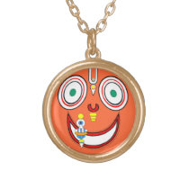 Hare Krishna Gold Finish Necklace