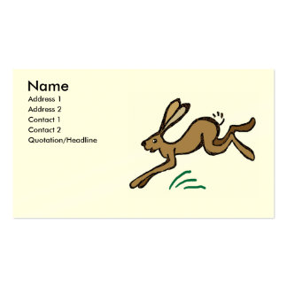 Hare leaping business card