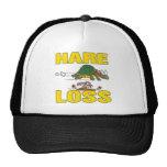 hare loss funny hair loss fable pun cartoon hats