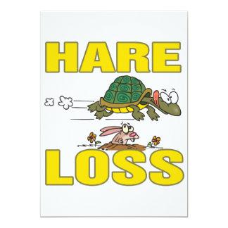 hare loss funny hair loss fable pun cartoon invites