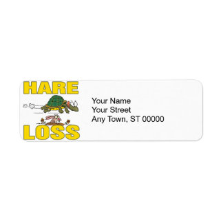 hare loss funny hair loss fable pun cartoon label
