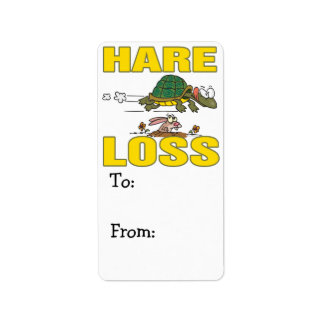 hare loss funny hair loss fable pun cartoon personalized address labels