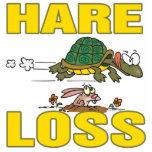 hare loss funny hair loss fable pun cartoon photo cut outs