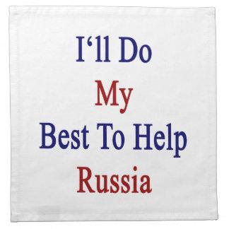 Haré mi mejor para ayudar a Rusia Servilleta