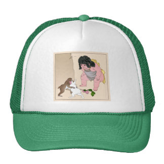 Hare & Monkey Fight by Yoshitoshi Trucker Hat
