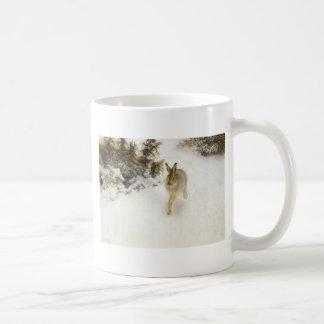 Hare of winter coffee mug