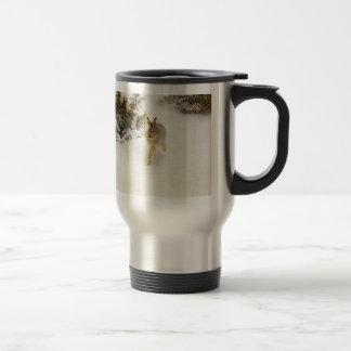 Hare of winter travel mug