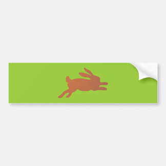 Hare rabbit rabbit bunny sheds bumper stickers