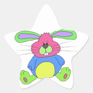 Hare rabbit star sticker
