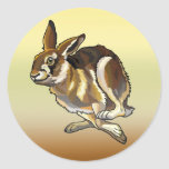 hare round stickers