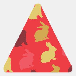 Hare Triangle Sticker