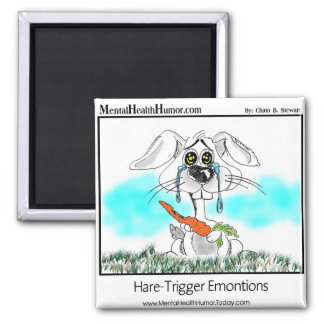 Hare Trigger Emotions 2 Inch Square Magnet