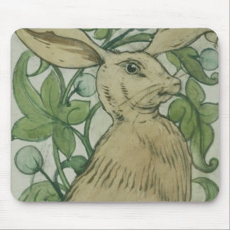 Hare (w/c on paper) mouse pad