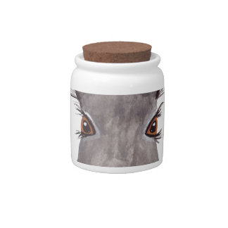Hare watercolor rabbit art candy jar