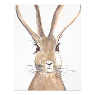 Hare watercolour painting letterhead