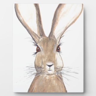 Hare watercolour painting plaque