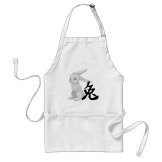 hare with character adult apron