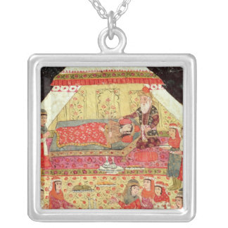 Harem Scene Silver Plated Necklace
