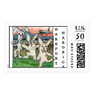 Hareobics at the Hareport Custom Postage Stamps