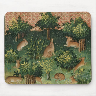 Hares in a Wood Mouse Pad