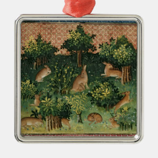 Hares in a Wood Ornament