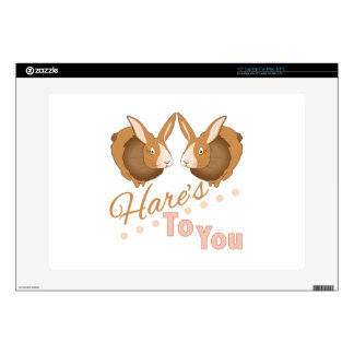 """Hares To You 15"""" Laptop Skin"""