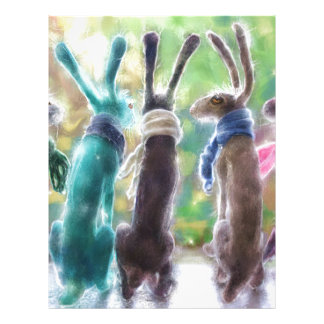 Hares with scarves letterhead