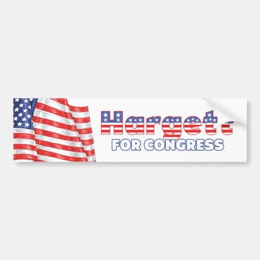Hargett for Congress Patriotic American Flag Car Bumper Sticker