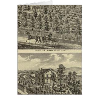 Hargis, Cheney residences Cards