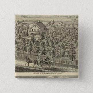 Hargis, Cheney residences Pinback Button