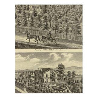 Hargis, Cheney residences Postcard
