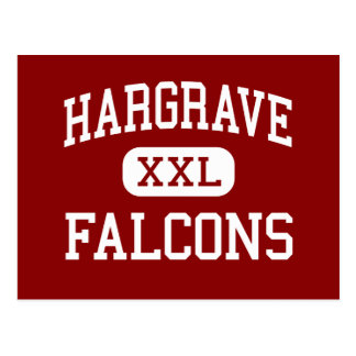 Hargrave - Falcons - High School - Huffman Texas Postcard