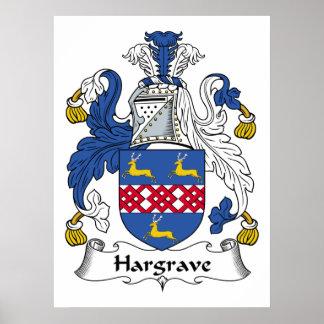Hargrave Family Crest Poster