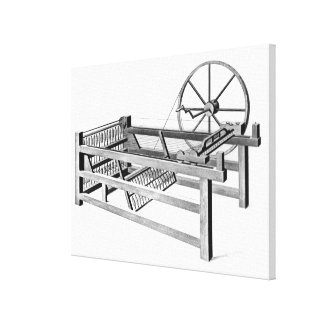 Hargreaves's Spinning Jenny, engraved by Canvas Print
