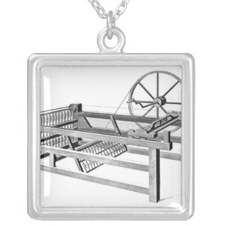 Hargreaves's Spinning Jenny, engraved by Personalized Necklace