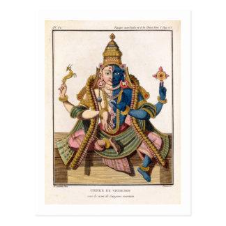 Hari-Hara, from 'Voyage aux Indes et a la Chine' b Postcard