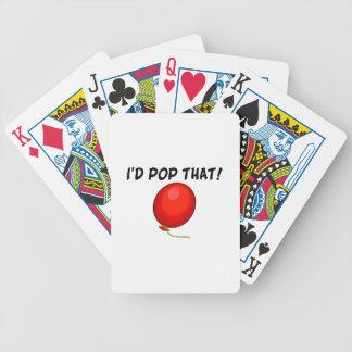 Haría estallar ese globo baraja cartas de poker