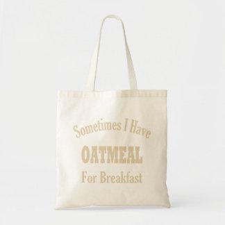 Harina de avena para el bolso del desayuno bolsas lienzo
