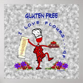 Harinas libres del amor del gluten I Poster