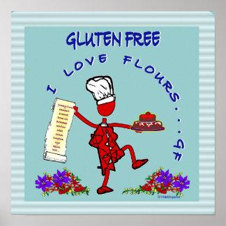 Harinas libres del amor del gluten I Posters