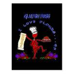 Harinas libres del amor del gluten I Tarjeta Postal