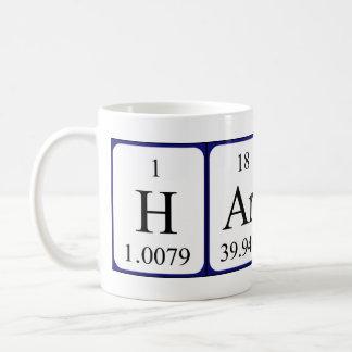 Haris periodic table name mug