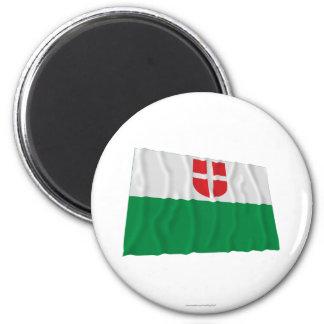 Harju Waving Flag 2 Inch Round Magnet
