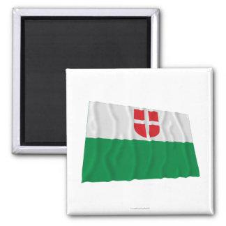 Harju Waving Flag 2 Inch Square Magnet