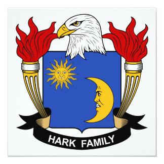 "Hark Family Crest 5.25"" Square Invitation Card"