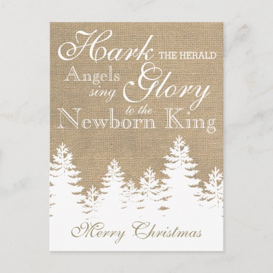 Hark The Herald Angels Christian Christmas Card