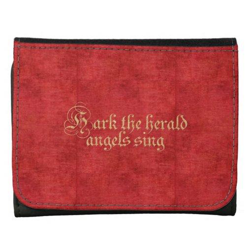 Hark the Herald Angels - Christmas Carol Lyrics Tri-fold Wallet