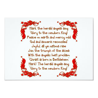 Hark the herald Angels sing... 3.5x5 Paper Invitation Card