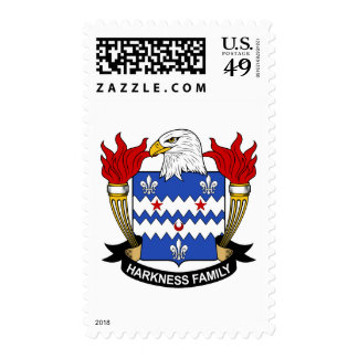 Harkness Family Crest Postage Stamps