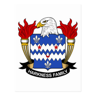 Harkness Family Crest Postcard